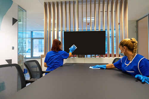 Office cleaning boardrooms